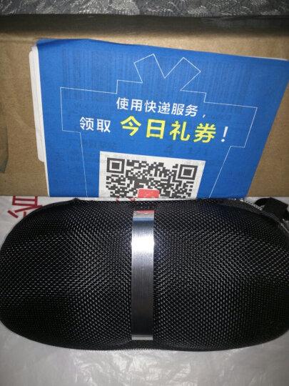 罗丹洛宾 户外太阳镜拉链眼镜墨镜盒 多功能挂钩防水抗压置放容器 黑色 晒单图