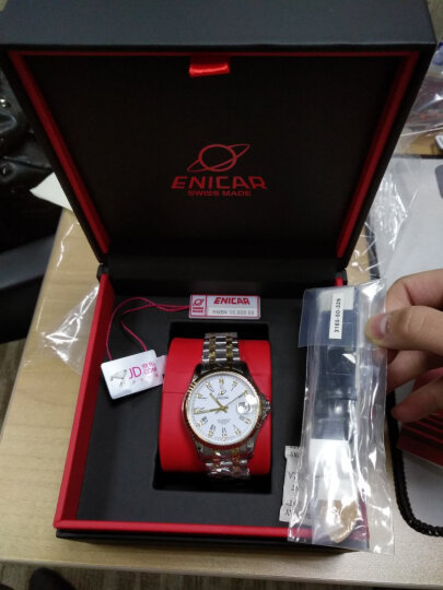 英纳格(ENICAR)瑞士原装进口手表 精英系列间金钢带自动机械男表新款3165/51/329G 晒单图