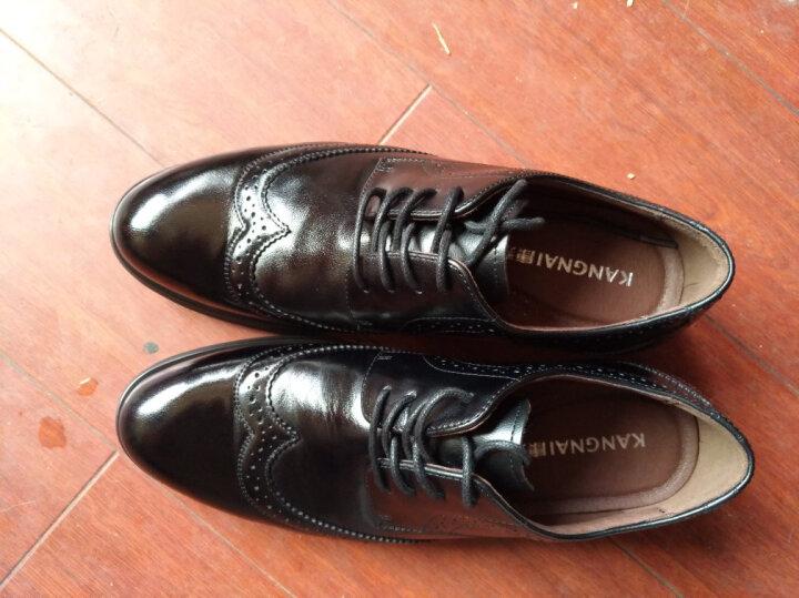 康奈男鞋 男士牛皮英伦布洛克皮鞋真皮商务正装皮鞋 黑色(休闲商务) 41 晒单图