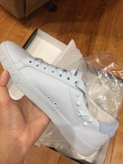 ASH/艾熙 女鞋钉珠铆钉装饰时尚女士牛皮板鞋 DAZED 粉蓝色 39 晒单图