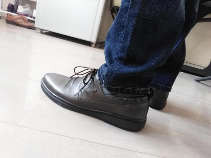 Belle/百丽春专柜同款牛皮褶皱鞋面系带男休闲鞋4SV01AM7 棕色 39 晒单图