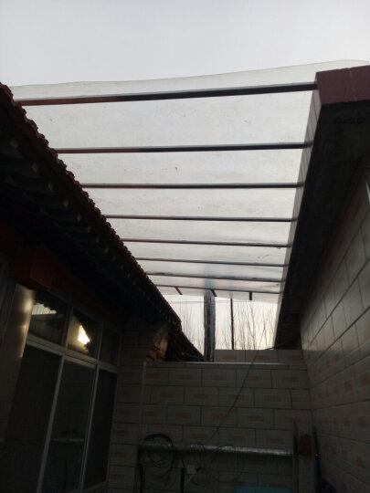 水木风 FRP采光板阳光板阳光房耐力板 半透明彩钢瓦采光瓦玻璃钢雨棚平板 1米宽1.0mm厚/米 晒单图