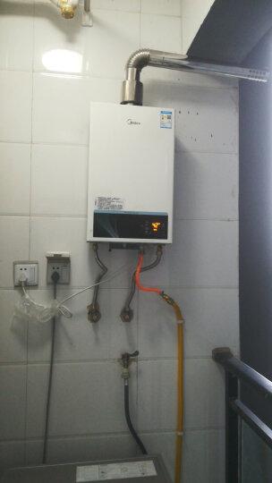 美的(Midea)12升精控恒温 6年质保 三档变升 燃气热水器(天然气)JSQ22-12WH5D 晒单图