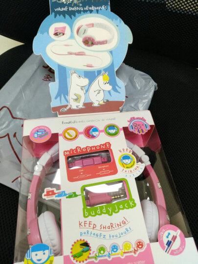 BuddyPhones MOOMIN 卡通儿童耳机头戴式 有线带麦克风话筒  英语听力网课学习用耳麦  可爱护耳隔音 黄色 晒单图