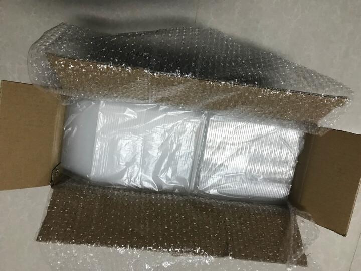 润欣 一次性餐盒饭盒塑料透明蔬菜水果托盘长方形圆形外卖打包快餐盒 圆形 1000ML 50套/盒+盖 晒单图