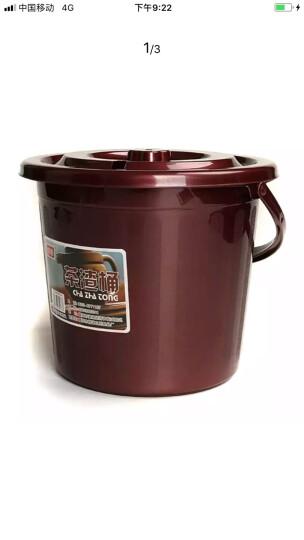 七陶 茶渣桶塑料茶艺排水桶茶叶垃圾桶功夫茶具茶盘茶道零配件茶桶 圆形茶渣桶 晒单图