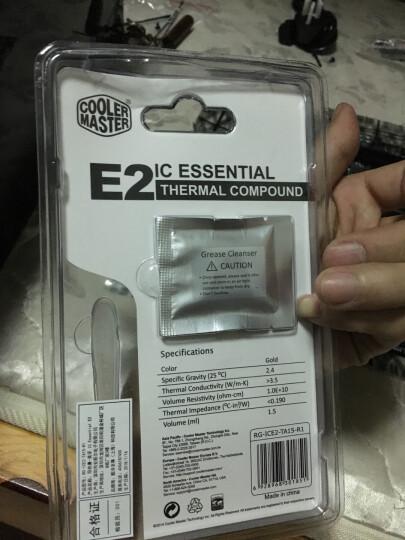 酷冷至尊(CoolerMaster)IC Essential E2 美孚 E2 导热硅脂(送油脂去除剂) 晒单图