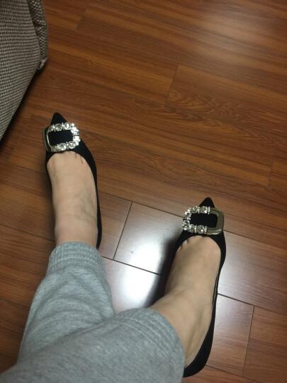 STACCATO/思加图秋季专柜同款羊皮黑色扣饰女细跟浅口鞋9UK20CQ6 深蓝 36 晒单图