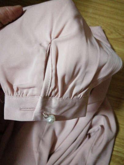 芳帛雪纺衬衫女2018春季新款长袖洋气百搭小衫甜美公主上衣服打底衫 粉色 L 晒单图