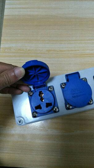 FeeDaa 多功能户外防水防雨插座盒工业塑料插座箱3孔10A 家用防水插座接线板 防水插座盒六位 晒单图