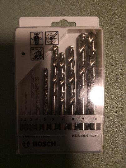 原装博世金属钻头合金/铝材钻孔10支麻花钻头套装 带自定心功能 晒单图