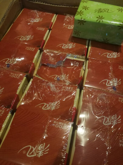 清风(APP) 清风 抽纸 原木纯品2层200抽盒装面巾纸 6提装(3盒/提)新老包装随机发货 晒单图