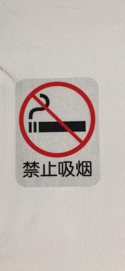 蓝瑞玻璃贴 禁止标识标志贴标示标牌玻璃贴墙贴纸禁止吸烟拍照外带同行免进 请勿大声喧哗 带背胶 小 晒单图