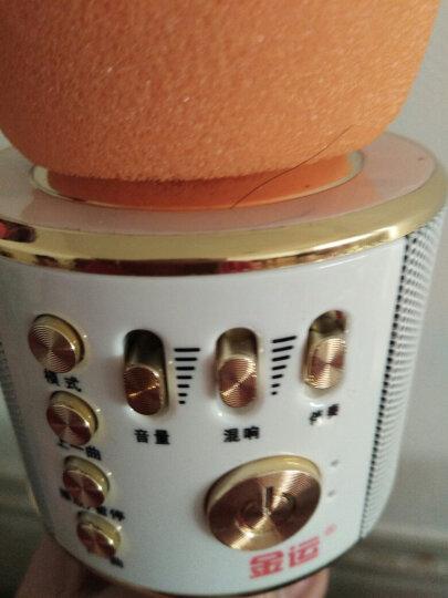 金运 手机麦克风全民无线k歌神器声卡蓝牙直播话筒 玫瑰金+收纳盒 晒单图