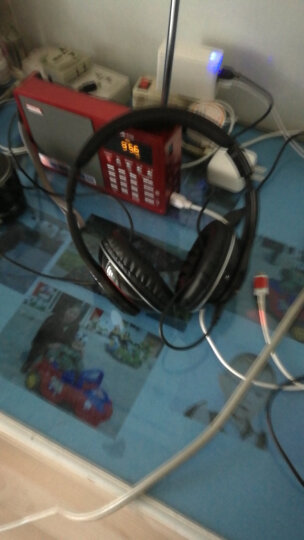 【速发】耳机头戴式运动蓝牙MP3入耳挂耳式无线跑步音乐游戏耳麦通话随声听oppo苹果手机电脑通用 线控版 炫酷黑 晒单图