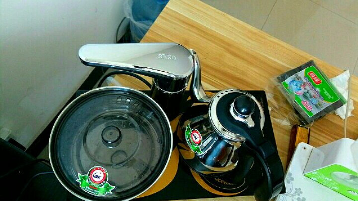 新功(SEKO) 全自动上水电热水壶304不锈钢电水壶热水壶烧水壶自动上水电茶炉F90 晒单图