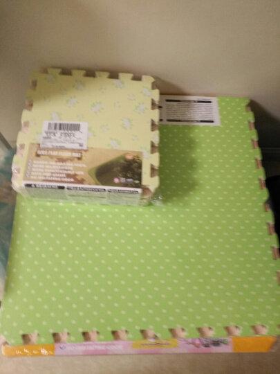 明德Meitoku 碎花拼图地垫 PE泡沫地垫 宝宝爬行垫 客厅卧室儿童拼接地垫30*30*1cm(9片装)米/咖色单色随机发 晒单图