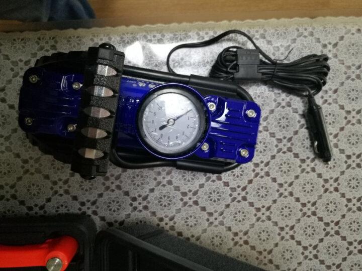 嘉西德 车载充气泵汽车用充气泵 双缸便携式高压电动轮胎充气泵 嘉西德0377-A豪华工具箱装 晒单图