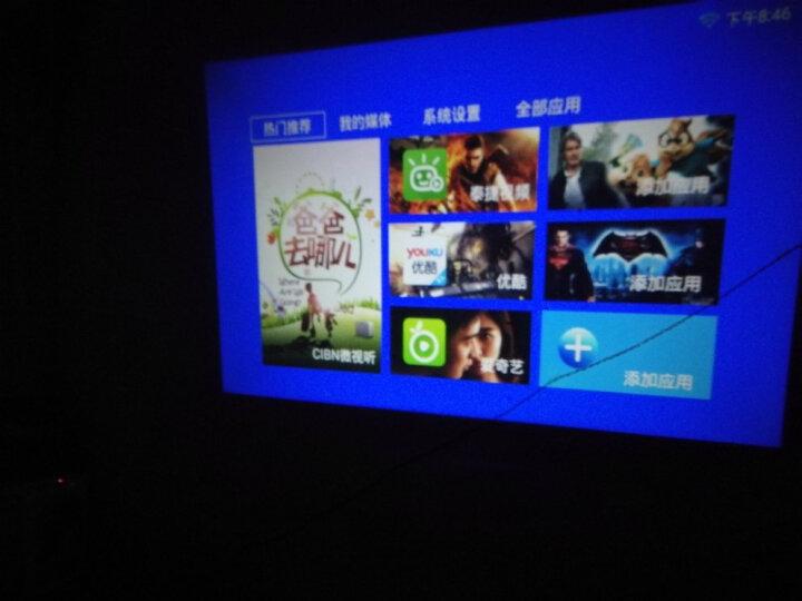 瑞格尔(Rigal)全高清投影仪办公家用 超高清家庭投影机 3D影院 HDMI接口 810白色增强版+WIFI+蓝牙+手机同屏 晒单图