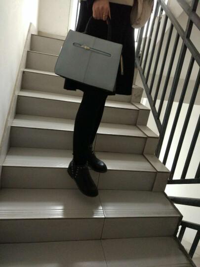 梦特娇真皮女包 手提包新款春款女士牛皮单肩包 时尚大容量多功能斜挎手拎包包 款式一 浅 灰 晒单图