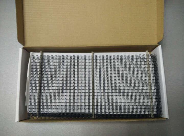 爱可(ECHO)装订铁圈双线圈3:1规格34孔包胶双线铁圈结实耐用 专业办公装订机耗材 银色 14.3mm/100支 晒单图