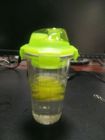 乐扣乐扣 玻璃杯 运动水杯 凉水杯 杯子 摇摇杯 410ml 410ml绿色 晒单图