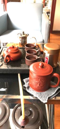 君礼轩 紫砂杯宜兴手工大红袍雕龙茶杯茶具礼盒装380cc 晒单图
