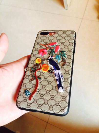 导维 新款潮流蜜蜂刺绣 iphone7手机壳 苹果6plus花鸟保护套 女款大气商务款 iPhone8蜂鸟 晒单图