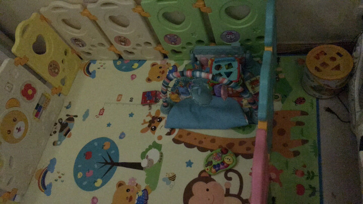 澳乐 婴儿室内游戏围栏儿童爬行学步防护栅栏宝宝围栏海洋球池游乐场 12+2 AL-E40855416 晒单图