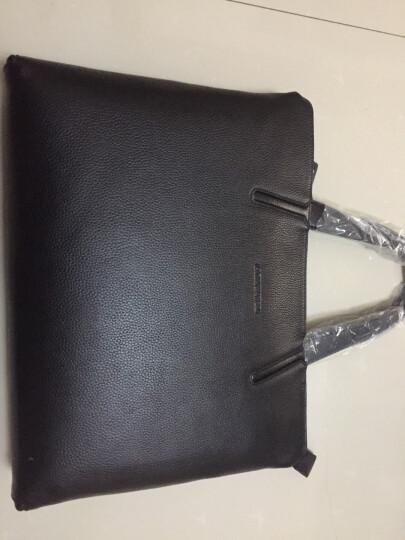 老人头(LAORENTOU)男包商务公文包新款时尚男包男士手提包公务包斜挎单肩包电脑包 黑色JD802186J0POP24L03A 晒单图