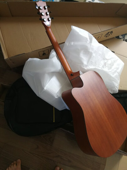 enya 【 恩雅 】单板民谣吉他40英寸41英寸吉它木吉他jita 初学者新手入门乐器 云杉木 AM-418C哑光日落色 41寸 晒单图