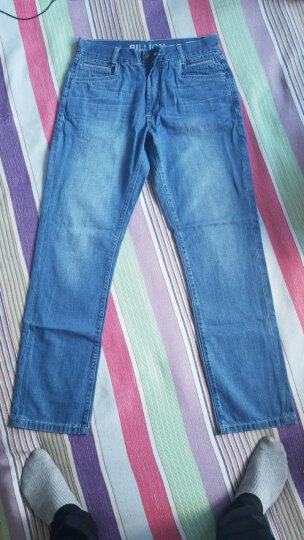 BILLION男装舒适直筒牛仔裤男宽松牛仔长裤子B12022 浅蓝拉链款 31 晒单图