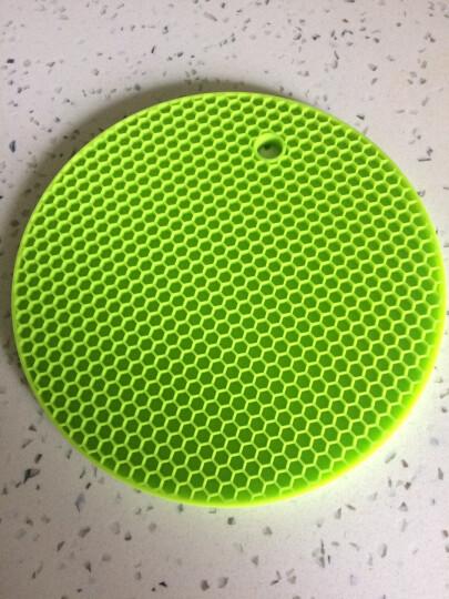 HHFA 大号圆形餐桌硅胶隔热垫套装 锅垫碗垫盘子垫餐垫 防水防烫防滑垫 柠檬黄 晒单图