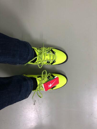 双星男子足球鞋成人橡胶钉碎钉球鞋室内训练比赛皮足 667010 果绿/黑 41 晒单图