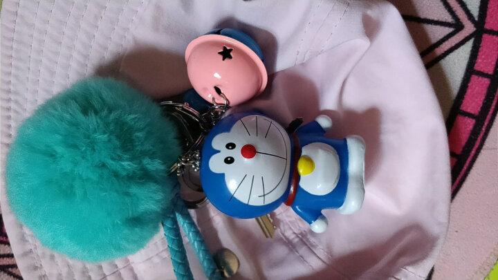 为伴 汽车情侣钥匙扣送女生女友闺蜜生日礼物创意可爱卡通挂件家用钥匙挂件腰挂包包挂件 机器猫-粉蓝铃-毛球钥匙扣 晒单图