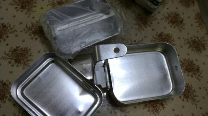 兵行者军迷户外野战作业三件套铝制军迷用饭盒 野外野餐烧烤 野炊用具 晒单图