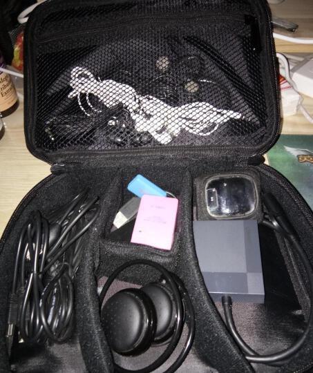 圣贝尔 旅行数码收纳包配件电源充电器整理包 耳机数据线收纳盒 硬盘包U盘手提袋 大号黑色 晒单图