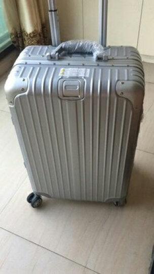 爱路思(AIRCROSS)铝框拉杆箱 20/24/26寸行李箱男女士旅行箱 皮箱万向轮登机箱 密码箱 钛金色防刮款 29寸(需托运) 晒单图
