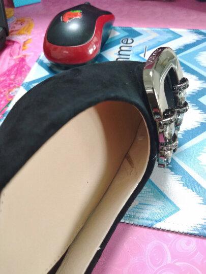 STACCATO/思加图专柜同款灰色羊绒皮闪耀水钻女单鞋9YR07CQ6 黑色 36 晒单图