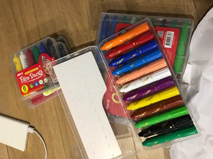 AMOS旋转可水洗多功能蜡笔(玻璃/白板/纸张)儿童绘画工具 韩国进口 晒单图