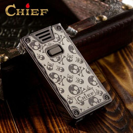 chief电弧usb充电打火机男士超薄防风创意个性脉冲电流电子点烟器 雷霆黑 晒单图