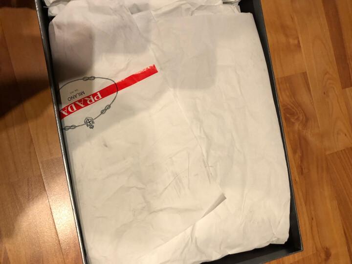 PRADA 普拉达 男士黑色蓝色牛皮织物拼接系带运动鞋 4E3039 1OCO F0A13 6.5/40.5 晒单图