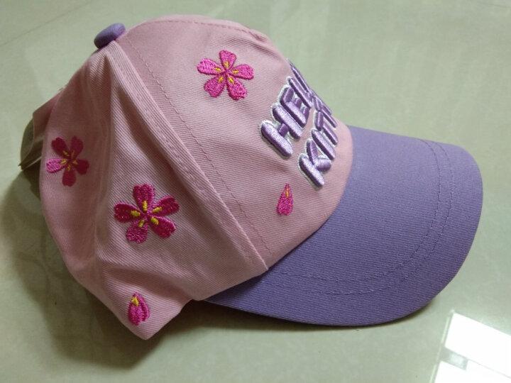 凯蒂猫(HELLO KITTY)女童帽子春夏公主遮阳帽小孩幼儿童宝宝棒球帽 KT4095 紫色 54cm 晒单图