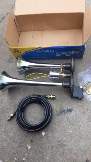 12V24V气喇叭货车汽笛喇叭 电控气喇叭电气喇叭汽车喇叭 24V气喇叭+4米气管+转换开关 晒单图