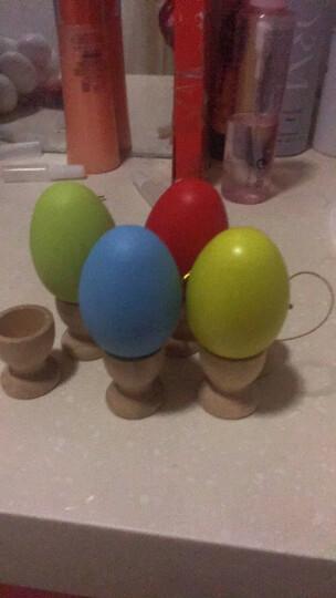 妙豆玩具节日彩蛋仿真彩色鸡蛋壳儿童手绘玩具幼儿园创意DIY装饰挂饰 塑料彩蛋【鸡蛋色】 晒单图