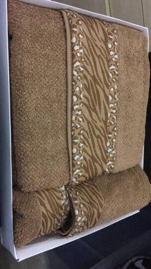 锦和家 毛巾家纺 全棉加厚非洲风情方巾毛巾浴巾三件套 礼品盒 棕色 JH16-08WFB 晒单图