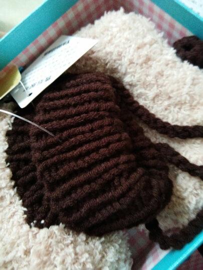 Yamilan 婴儿手工编织鞋 冬季加厚保暖 宝宝毛线鞋袜 可爱地板袜 卡其色-毛球款 0-12个月/脚长12.5厘米以内 晒单图