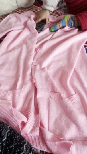 【祥震】18春秋新款韩版V领防晒衫女针织衫外套开衫中长款羊毛衫宽松打底衫外搭毛衣针织衫空调衫女 酒红色 L 晒单图