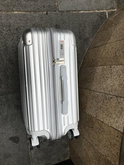 派乐仕(Paileshi)拉杆箱万向轮24寸学生行李箱商务20寸男女潮旅行密码箱登机皮箱 武士银-铝框款 24寸【终身免费维修】 晒单图