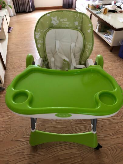 爱音(Aing)儿童餐椅 欧式多功能婴儿餐椅四合一宝宝餐椅可折叠便携C002 绿色(适合0~4岁) 晒单图